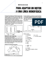 Metodo Para Adaptar Un Motor Trifasico a Una Line Monofasica