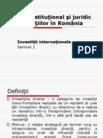 Investitii Internationale
