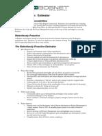New Estimating Job Description - Draft