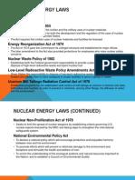 Nuclear Energy Laws
