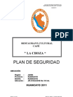 Plan de Seguridad Restaurant Recepcion Cafe La Choza
