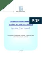 AIA Ilva Relazione Trimestrale. 27 gennaio - 27 aprile 2013