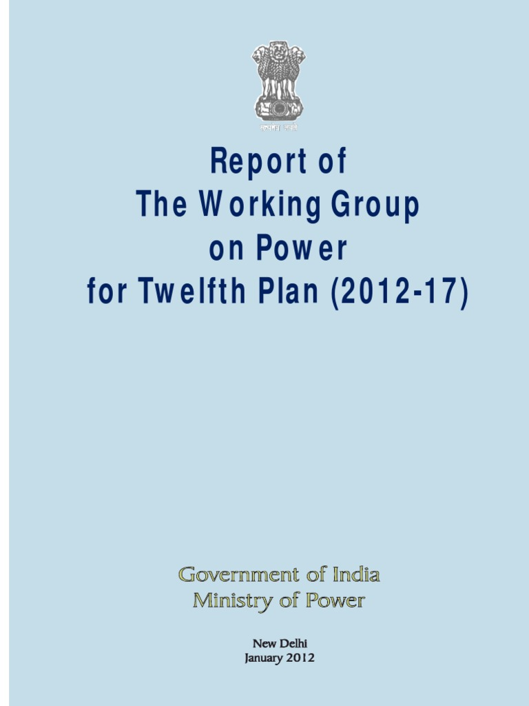 Report of Working Group on Power: 12th Five Year Plan (2012_17 ...