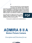 Meopta Camera Admira 8 II a Manual