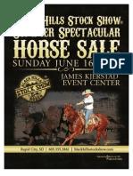 BHSS Summer Spectacular Horse Sale