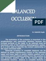 Balanced Occlusion