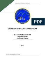 Acta de Contitucion de Consejos Escolares Pocoyan