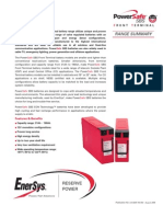 Batería PowerSafe - Front Terminal - Range Summary
