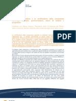 Mancini - Le università italiane e la certificazione delle competenze comunque acquisite