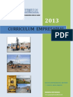 Curriculum Empresarial Geoproject Consultores 2013 Rev A