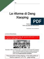 Le Riforme Di Deng Xiaoping
