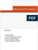 Agenda and Minutes of the Meeting