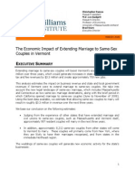 Economic Impact of Allowing Same-Sex Marriage in Vermont