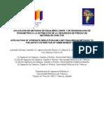49 f1 2008 Aplicacion de Metodos de Equilibrio Limite y de Degradacion de Parametros a La Estimacion de La Seguridad de Presas De