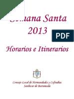 Semana Santa Horarios e Itinerarios 2013 Oficial Clhhcc