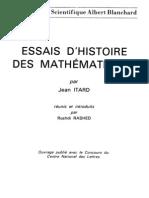 Essais d'Histoire Des Mathematiques