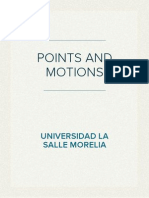 Points and Motions