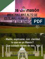 ¿QUÉ ES UN MASÓN.pps