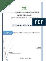 Pib Per Capita Mocambicano 1930 - 2013