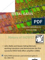 Metal Gates for MOSFET