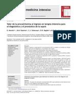 Valor de La Procalcitonina Al Ingreso en Terapia Intensiva. Med Intensiva 2013;37(3)156-162