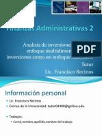 Finanzas Administrativas 2 S2
