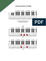 Acordes Para Piano y Teclado