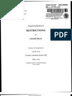 Cedar Hills CC&R's received March 7, 2013