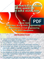 RICE-HUSK AS CEMENTING MATERIAL