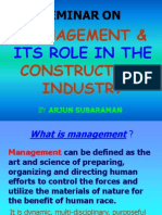 Management & Its Role in the Construction Industry