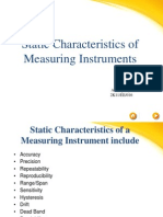 Static Characteristics of Measuring Instruments