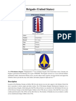 197th Infantry Brigade (United States), American Army order of battle