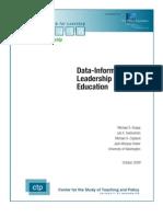 Data Informed Leadership