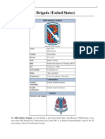 198th Infantry Brigade (United States), American Army, Order of battle