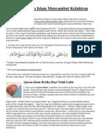 Ajaran Islam Menyambut Kelahiran Bayi