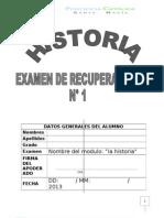 EXAMEN historia 1° - 1RECUPERACION