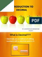 Introduction to Decimals
