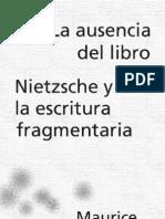 blanchot, maurice - la ausencia del libro.pdf