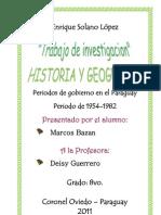 Trabajo Presidentes Del Paraguay