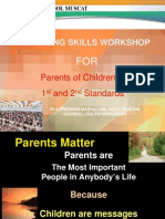 PARENTING SKILLS WORKSHOP FOR PARENTS OF CLASS I & II STUDENTS