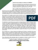 El avance de la organización de las privadas y la unidad con la CONFECH