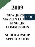 2009 Scholarship Nomination