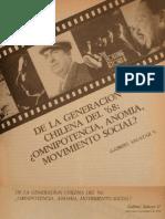 Gabriel Salazar - De la generación chilena del 68. Omnipotencia, anomia, movimiento social