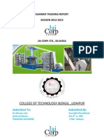 Jaicorp Summer Training REPORT 