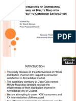 Effectiveness of Distribution Channel of Minute Maid Pptx