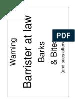 Barrister - Prop Item