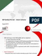 Intern scheme SSP