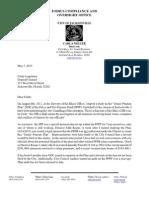 Carla Miller Letter May 7, 2013
