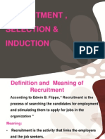 130331842 Recruitment Selection Induction 07-02-2012 Ppt