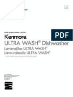 Kenmore - 665 1328 Dishwasher User Guide